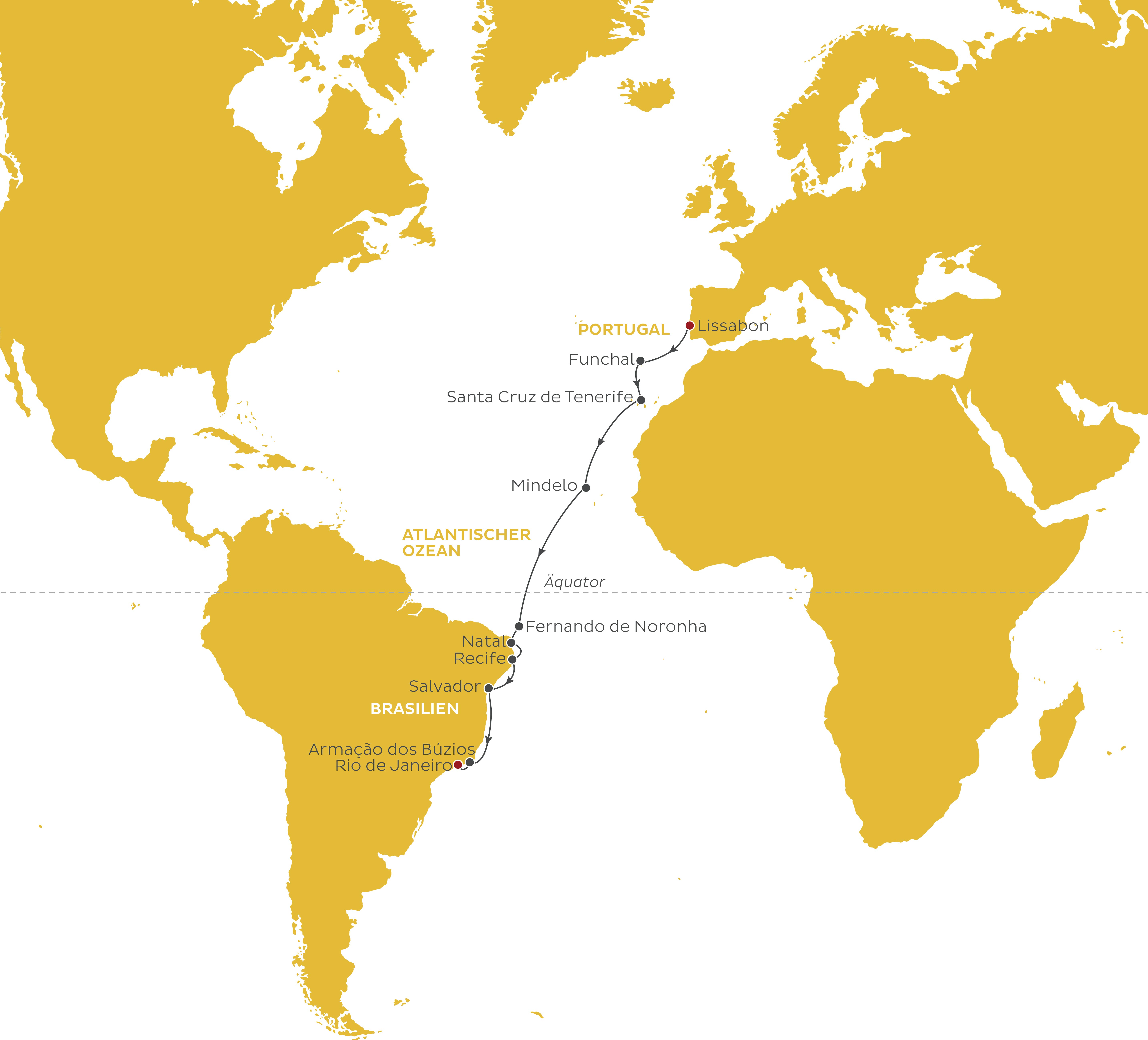 World Explorer Sonderpreis Lissabon Rio de Janeiro - Schiffs ...